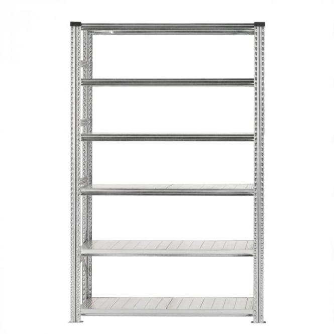 Heavy Duty Zinc Plated Shelving - Width 1200mm (6 Shelves)
