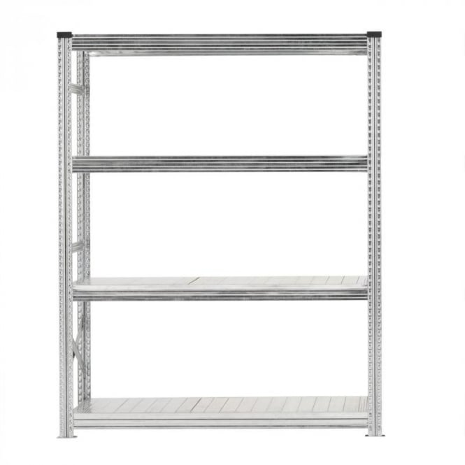 Heavy Duty Zinc Plated Shelving - Width 1500mm (4 Shelves)
