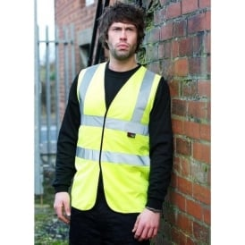 Hi-Visibility Waistcoat Vests Yellow or Orange