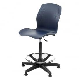 High Rise Draughtsman Counter Polypropylene Chair