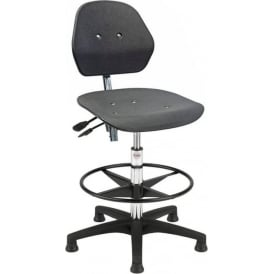 High-rise Plastic Draughtsman/Counter Chair