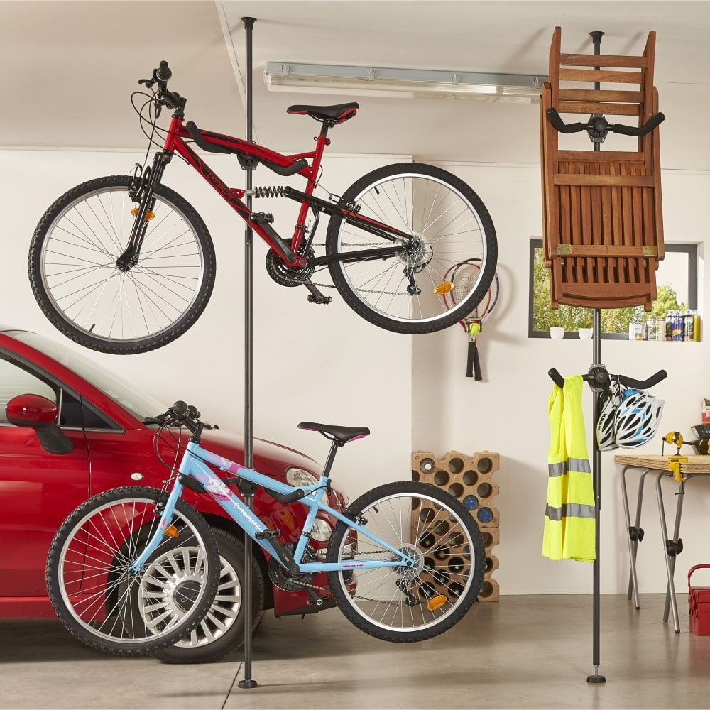 Ceiling Bike Rack >> Vertical Bike Stand 2 Bikes Free Uk Delivery Parrs