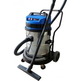 Industrial 45lt-63lt Wet & Dry Vacuum Cleaner - Stainless Steel