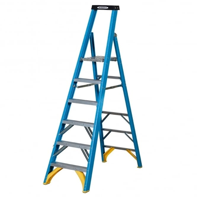 Industrial Fibreglass Platform Step Ladders
