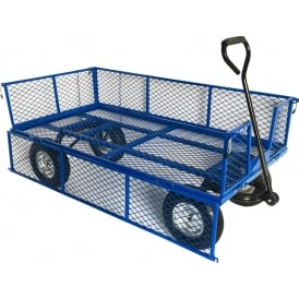 Industrial Mesh Turntable Truck with REACH compliant wheels 1500L x 750W Platform Cap: 500kg