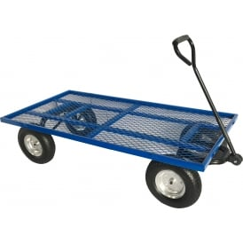 Industrial Turntable Truck with REACH compliant wheels Flat Bed with Mesh Base 1500L x 750W Platform Cap: 500kg