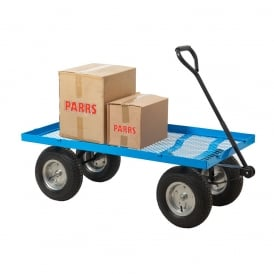 Industrial Turntable Truck with REACH compliant wheels Flat Bed with Mesh Base Cap: 400kg