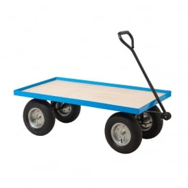 Industrial Turntable Truck with REACH compliant wheels Flat Bed with Plywood Base Cap: 400kg