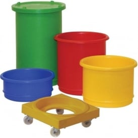 Interstacking Bins with Lid & Dolly