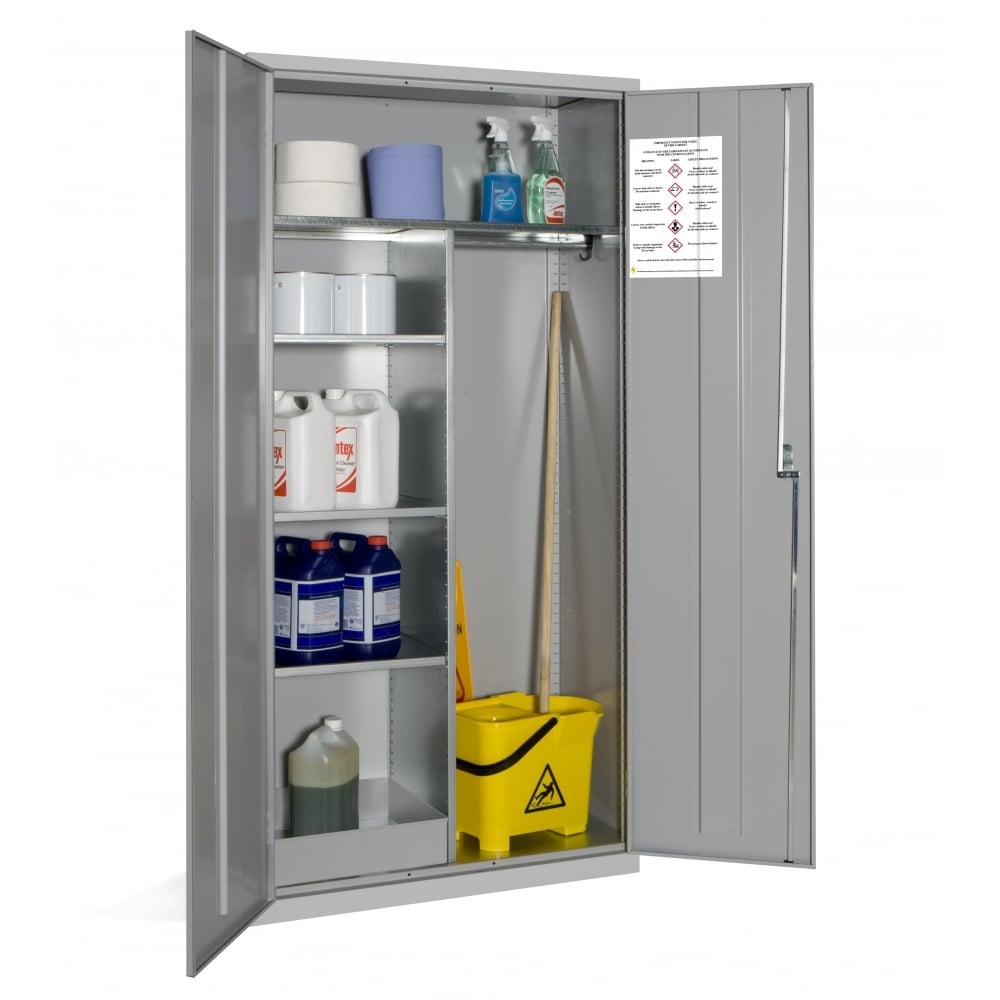 info s drobek supply storage janitorial cabinet rubbermaid metal