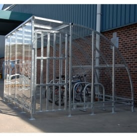 Kenilworth Bike Shelter with lockable decorative security door/porch