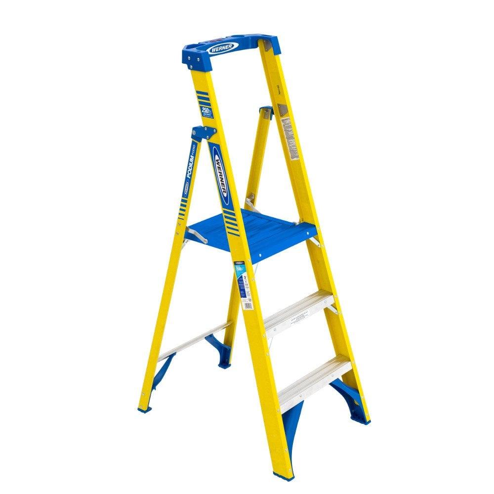 Lightweight Fibreglass Podium Step Ladder