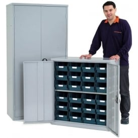 Lockable Steel Cupboards with Storage Bins