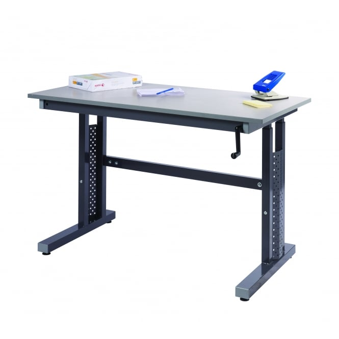 Low Cost Height Adjustable Workbench