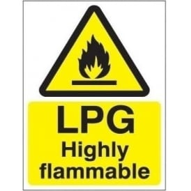 LPG Higly flammable sign