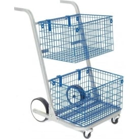 Mail Distribution Trolley | 2 Basket Cap: 50kg