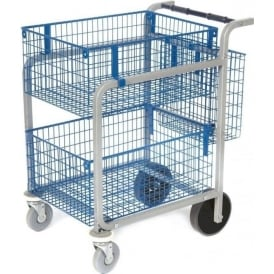 Mail Distribution Trolley | 3 Basket Cap: 100kg