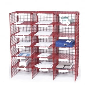 Mailroom Wire Sorting Unit - 18 Compartments