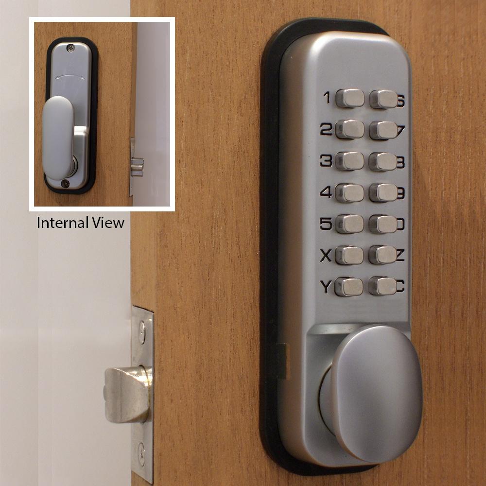 Mechanical Push Button Coded Door Lock
