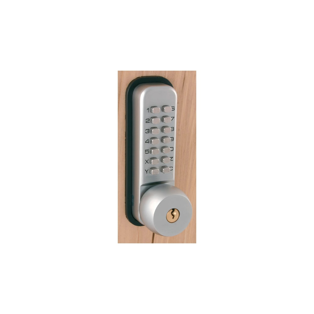 Mechanical Push Button Coded Door Lock with Key Override