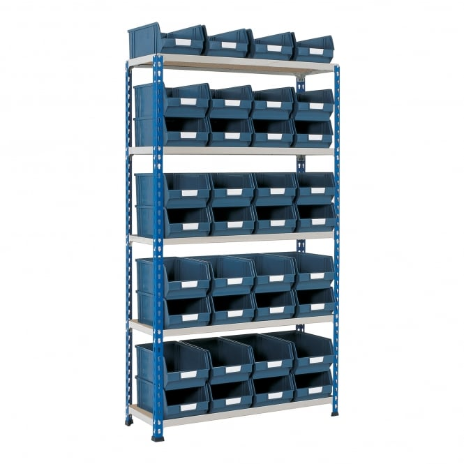 Medium Duty Shelving with Small Parts Storage Bins
