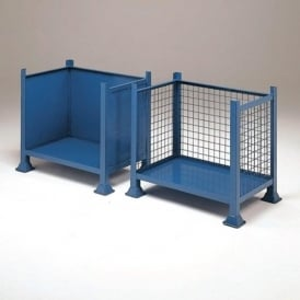 Mesh or Solid Steel Pallet Boxes with open front