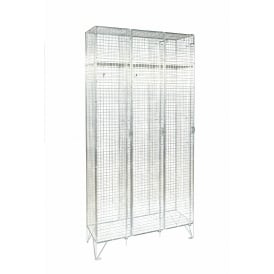 Mesh Personal Lockers - Nest of 3