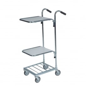 Mini Stock Trolley with 2 Laminate Shelves Cap: 35kg