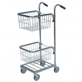 Mini Stock Trolley with 2 Mesh Baskets Cap: 35kg