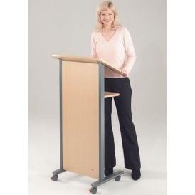 Mobile Panel Front Lectern