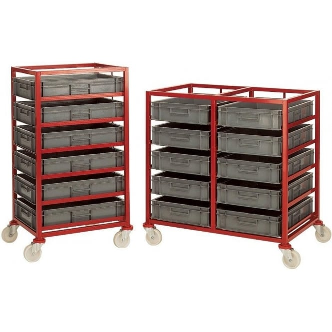 Mobile Trolley Rack with Euro Containers