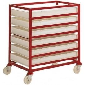 Mobile Trolley Rack with food grade trays