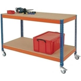 Mobile Workbench with Lower Shelf