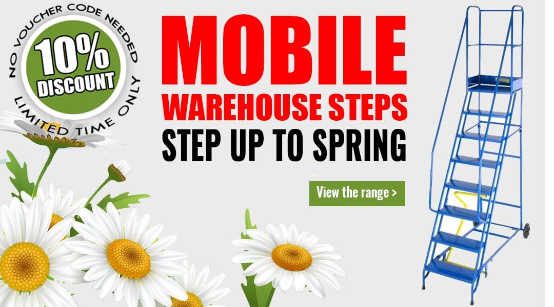 10% off Mobile Warehouse Steps