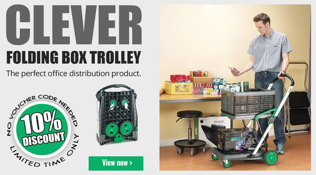 10% off Clever Folding Box Trolley