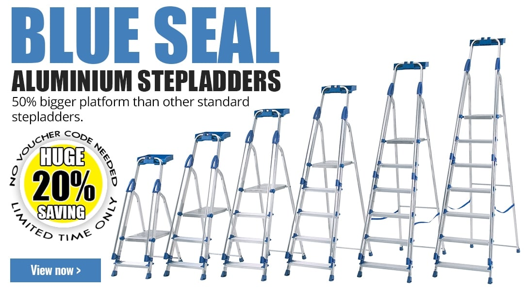 20% off BLUE SEAL Aluminium Stepladders