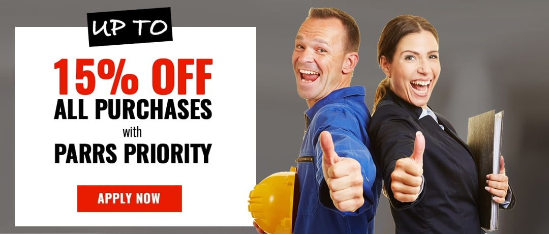 PARR Priority - up to 15% discount - apply now!