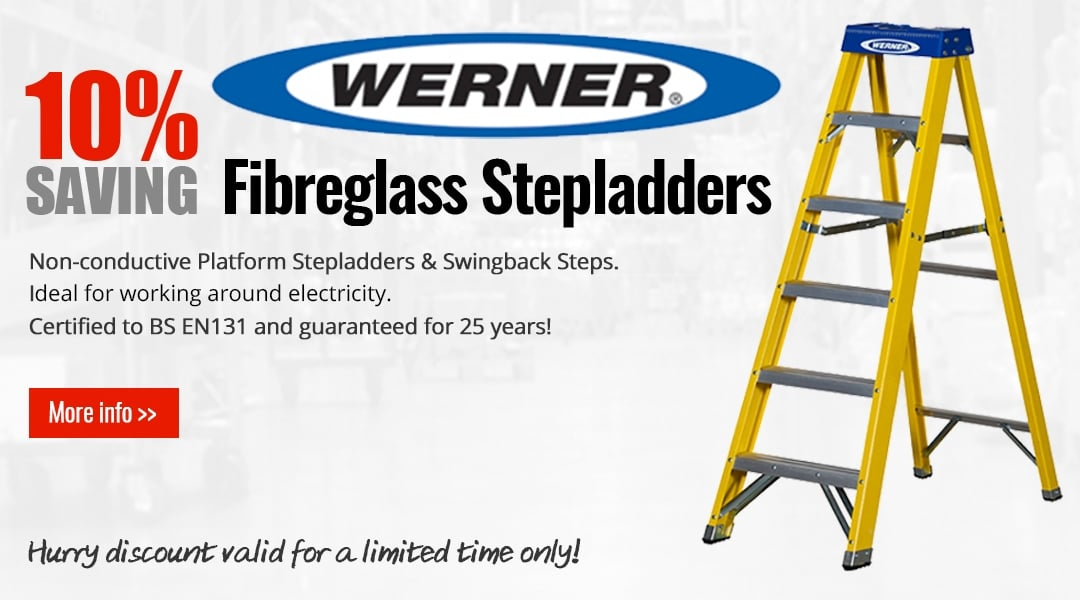 10% off Werner Fibreglass Steps