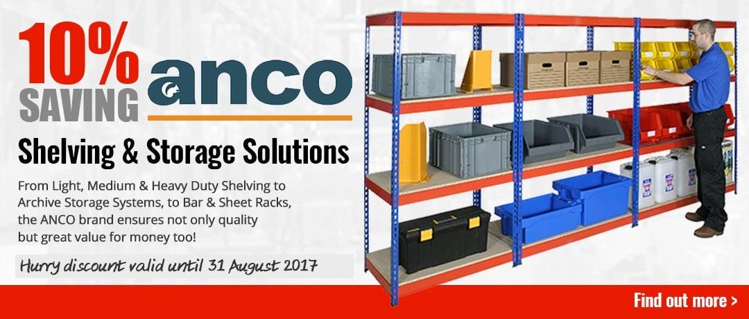 10% saving on ANCO Shelving