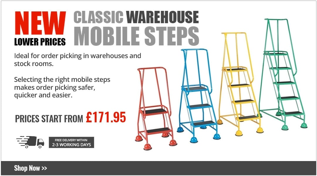 New lower prices - mobile warehouse steps