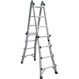 Multi Purpose 3 Way Aluminium Telescopic Ladder