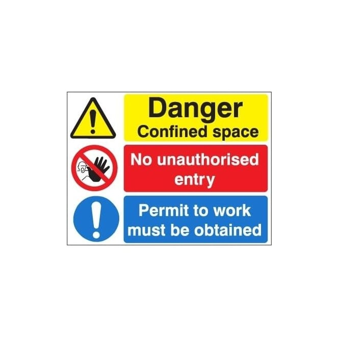 Multi-Purpose Site Sign Confined Space