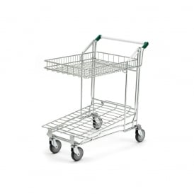 Nestable Stock Trolley with Folding Basket Cap: 250kg