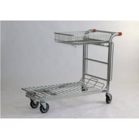 Nestable Stock Trolley with folding basket Cap: 500kg