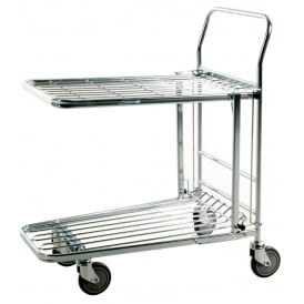 Nestable Stock Trolley with folding shelf: 300kg