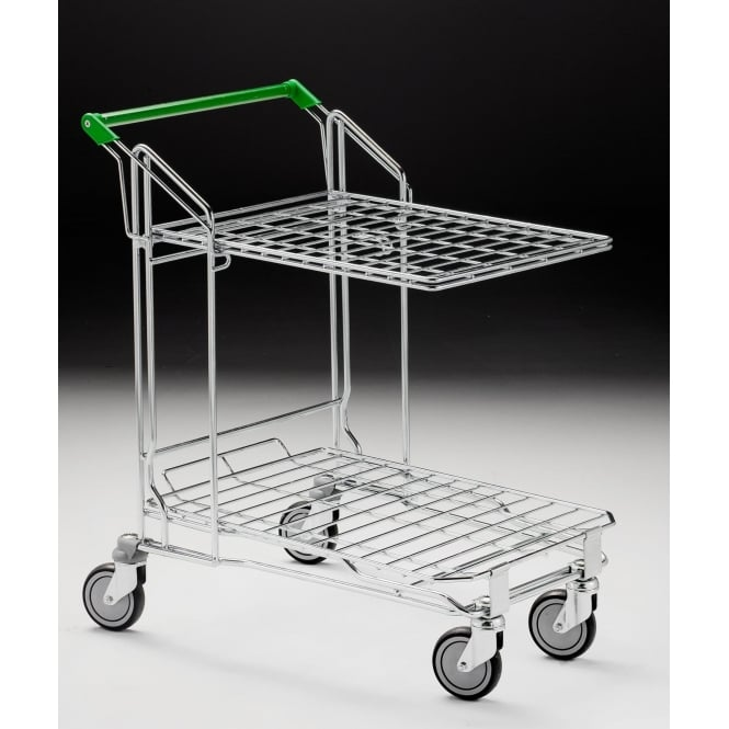 Nestable Stock Trolley with Folding Shelf Cap: 250kg