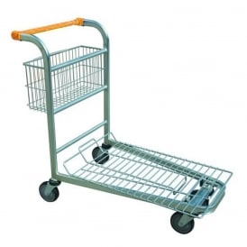 Nestable Stock Trolley with rear basket Cap: 500kg