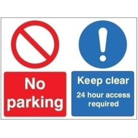 No parking / 24 hour access required Signs