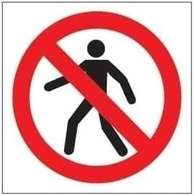 No pedestrians Sign - Symbol Only