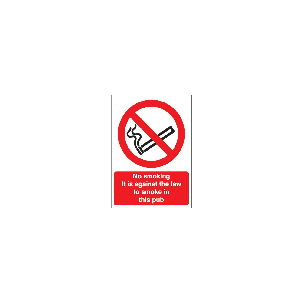 No Smoking Signs For Pubs Parrs Workplace Equipment